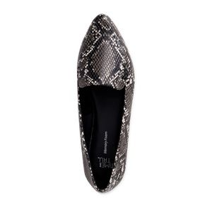 Time And Tru Snake Print Feather Flats